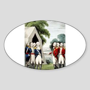 Surrender of Cornwallis - 1845 Sticker (Oval)