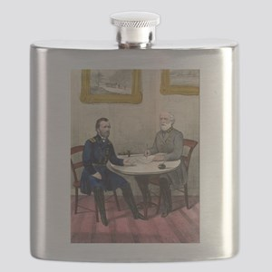Surrender of Genl. Lee, at Appomattox - 1865 Flask