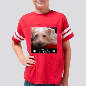 WESTIE_HOLIDAY_PAW_02 Youth Football Shirt
