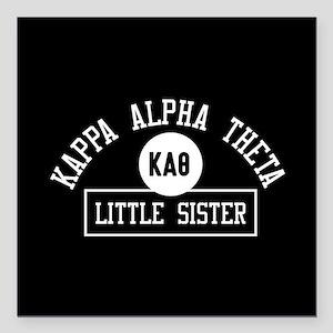 "Kappa Alpha Theta Littl Square Car Magnet 3"" x 3"""