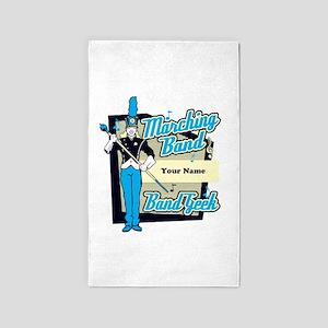 Custom Marching Band Geek( Light Blue) 3'x5' Area
