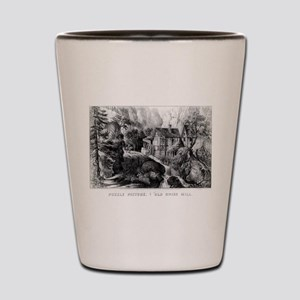Old Swiss Mill - Puzzle Picture - 1872 Shot Glass