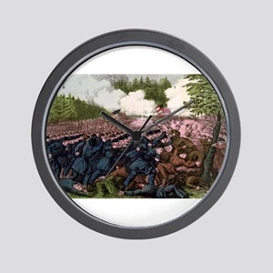 The Battle of Fair Oaks, Va - 1862 Wall Clock