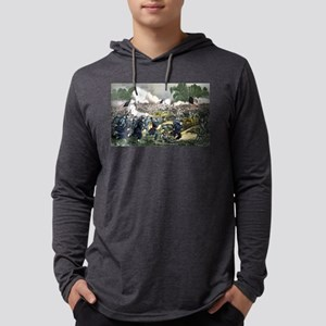 The battle of Gettysburg, Pa - 1863 Mens Hooded Sh