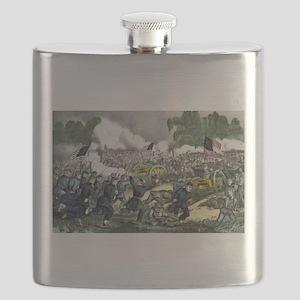 The battle of Gettysburg, Pa - 1863 Flask