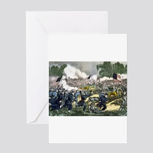 The battle of Gettysburg, Pa - 1863 Greeting Card