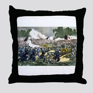 The battle of Gettysburg, Pa - 1863 Throw Pillow