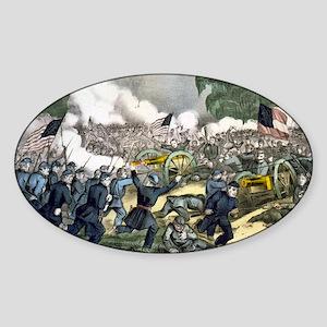 The battle of Gettysburg, Pa - 1863 Sticker (Oval)