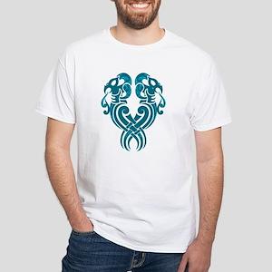 Twin Manaia White T-Shirt