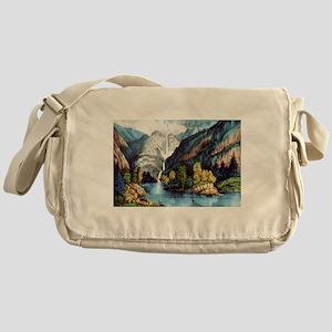Yo-semite Falls California - 1856 Messenger Bag