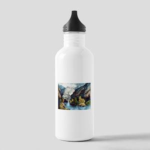 Yo-semite Falls California - 1856 Water Bottle