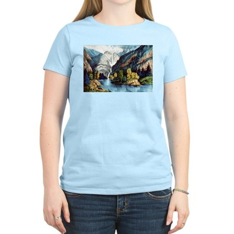 Yo-semite Falls California - 1856 T-Shirt