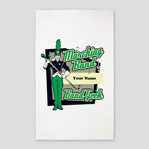 Marching Band Geek (Green) 3'x5' Area Rug