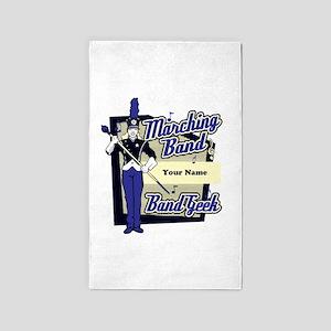 Custom Marching Band Geek(Blue) 3'x5' Area Rug