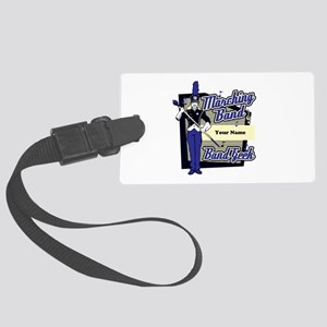Custom Marching Band Geek(Blue) Large Luggage Tag