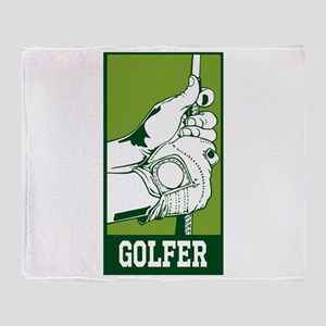 Personalized Golfer Throw Blanket