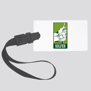 Personalized Golfer Large Luggage Tag