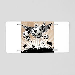 Decorative - Soccer - Football Aluminum License Pl