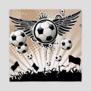 Decorative - Soccer - Football Queen Duvet
