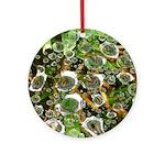 Dew on Grass 1x2 Ornament (Round)