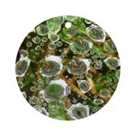 Dew on Grass 1x2 Ornament (Round)