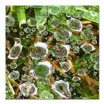 Dew on Grass 1x2 Square Car Magnet 3