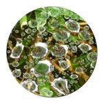 Dew on Grass 1x2 Round Car Magnet