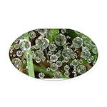 Dew on Grass 1x2 Oval Car Magnet