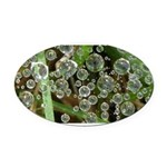 Dew on Grass 1x2 Oval Car Magnet