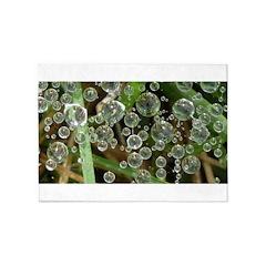Dew on Grass 1x2 5'x7'Area Rug