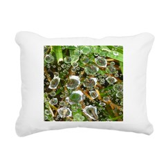 Dew on Grass 1x2 Rectangular Canvas Pillow