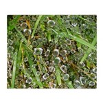 Dew on Grass 1x2 Throw Blanket