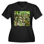 Dew on Grass 1x2 Plus Size T-Shirt