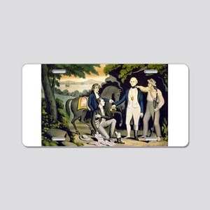 The Capture of Andre 1780 - 1845 Aluminum License