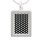 Polka Dots Silver Portrait Necklace