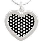 Polka Dots Silver Heart Necklace