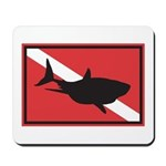 Shark Diving Flag Mousepad