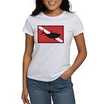 Shark Diving Flag Women's T-Shirt