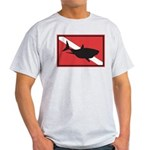 Shark Diving Flag Ash Grey T-Shirt