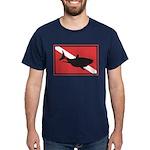 Shark Diving Flag Dark T-Shirt