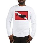 Shark Diving Flag Long Sleeve T-Shirt