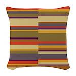 Whose Scarf Stripes Woven Throw Pillow