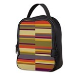 Whose Scarf Stripes Neoprene Lunch Bag