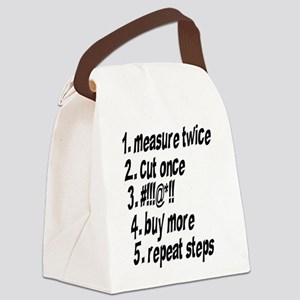 Repeat Steps Canvas Lunch Bag