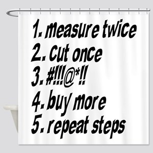 Repeat Steps Shower Curtain