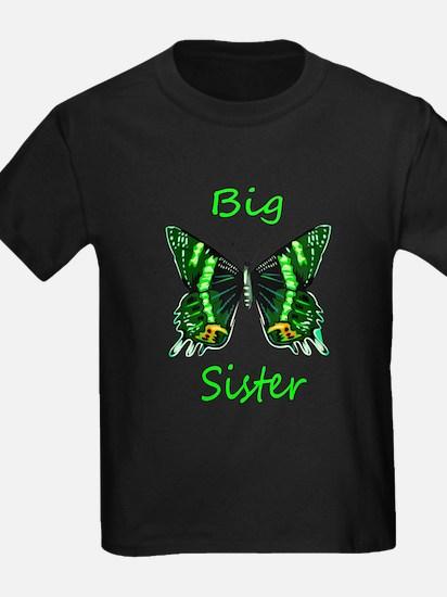 Big Sister Green Butterfly T-Shirt