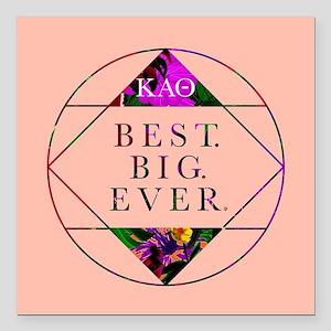 """Kappa Alpha Theta Best B Square Car Magnet 3"""" x 3"""""""