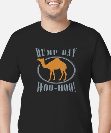 Hump day Men's Fitted T-Shirt (dark)