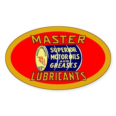 Master Lube Sticker (Oval)