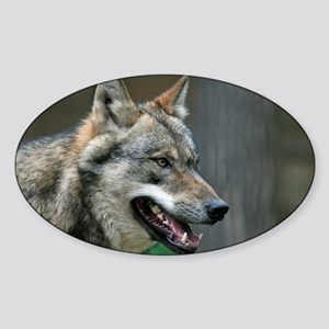 Wolf 002 Sticker (Oval)
